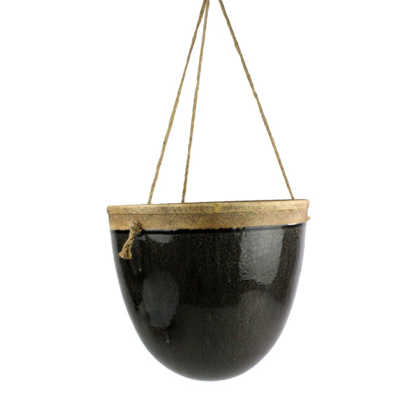 Mulberry Hanging Planter - Espresso - Modern Industrial & Eclectic Vintage Furniture & Decor by Urbanily - Planter