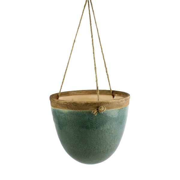 Mulberry Hanging Planter - Teal - Modern Industrial & Eclectic Vintage Furniture & Decor by Urbanily - Planter - 1