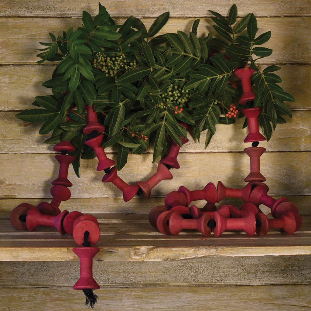 Wood Spool Garland - Two Strands