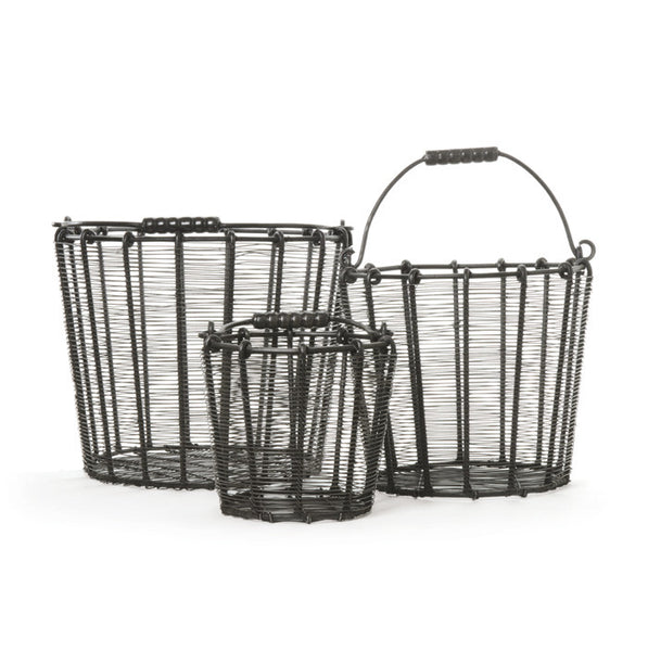 Wire Baskets - Set of Three
