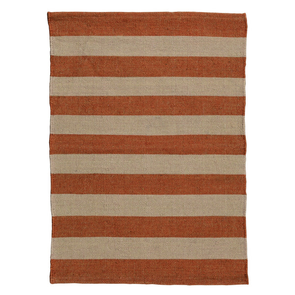 Seaport Kilim Rug - 2x3 - Orange Stripe