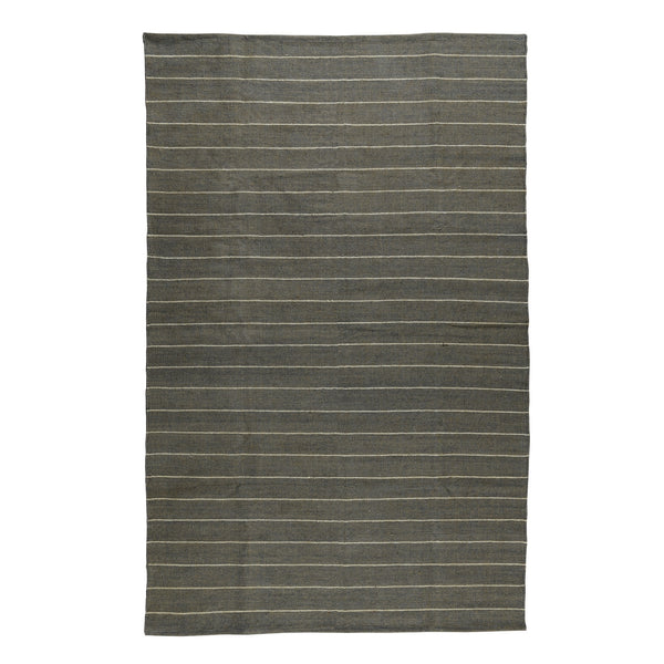 Seaport Kilim Rug - 5x8 - White Stripe