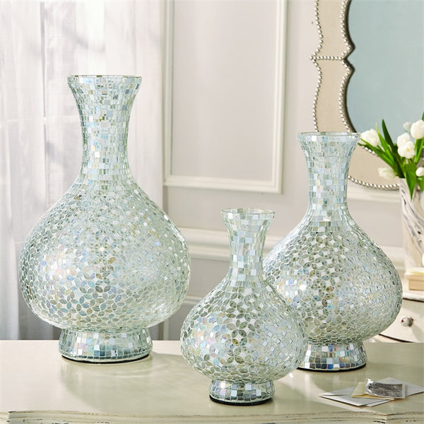 Veneto Mosaic Glass Vases - Set of 3