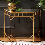 Gold Leaf Glass Wall Consoles - Set of 2 - Urbanily Lifestyle Goods