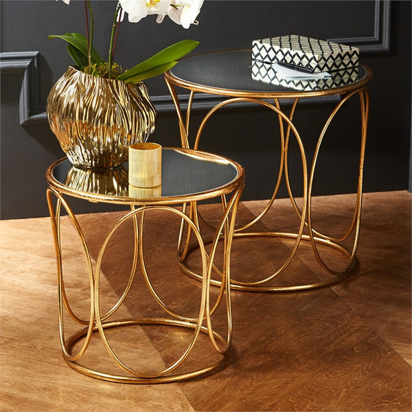 Mirror Top Decorative Tables - Set of 2