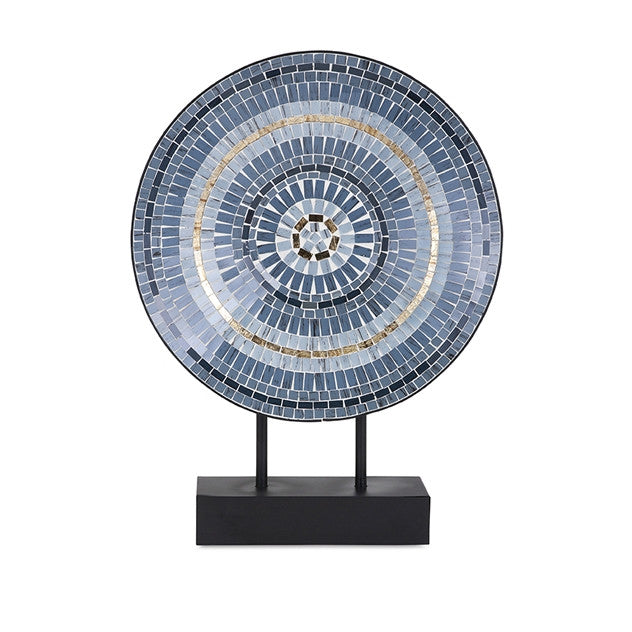 Cowboy Mosaic Charger on Stand