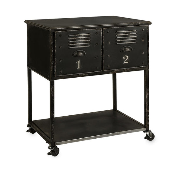 Two Drawer Rolling Cart Table