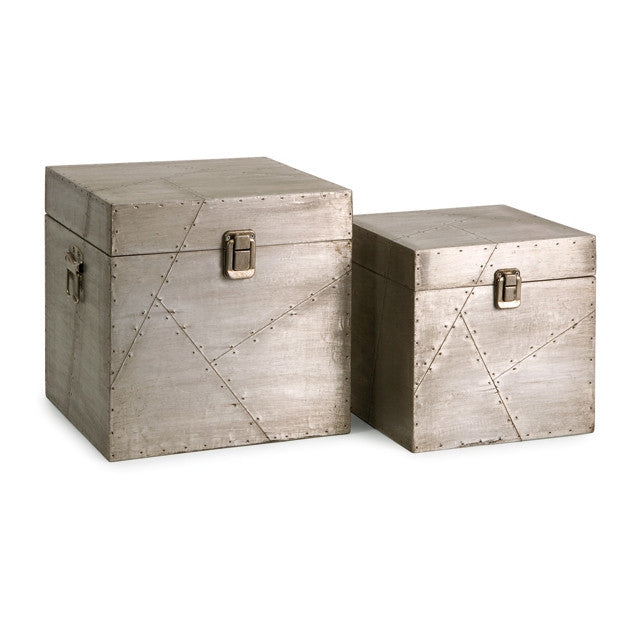 Jensen Aluminum Clad Boxes - Set of 2 - Urbanily Lifestyle Goods