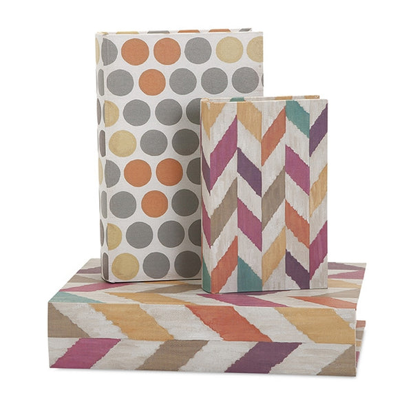 Confetti Book Boxes - Set of Three