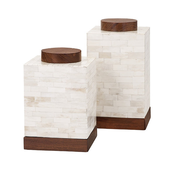 Beth Kushnick Bone Canisters - Set of 2