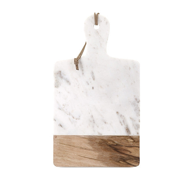 Marble and Wood Cheese Board Large