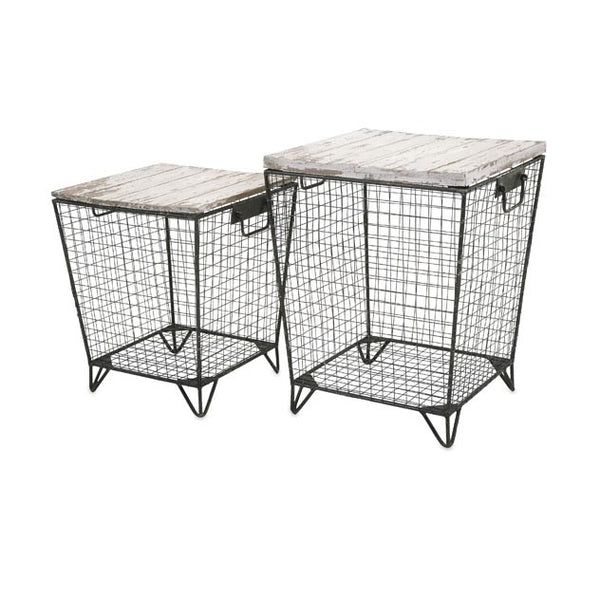 Ava Cage Tables - Set of Two