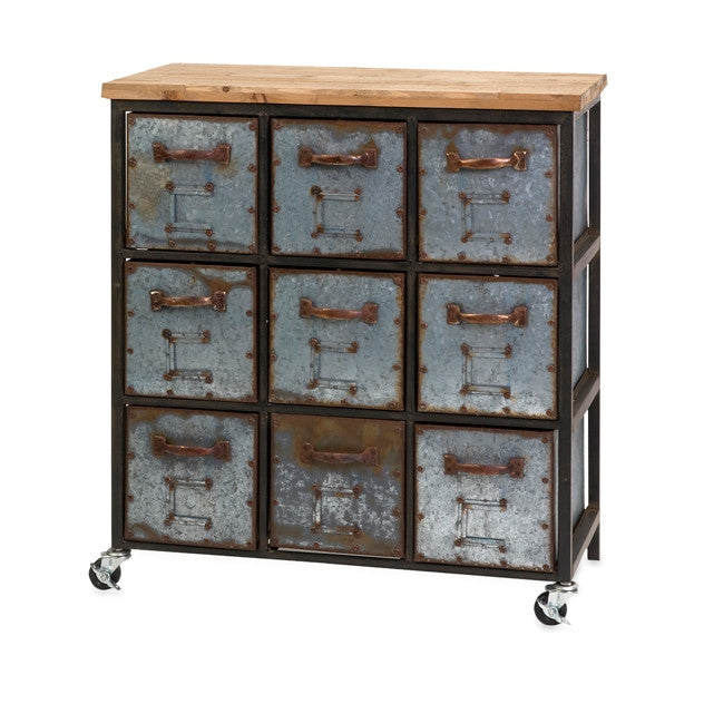 Nine Drawer Cabinet - Modern Industrial & Eclectic Vintage Furniture & Decor by Urbanily - Cabinet - 1