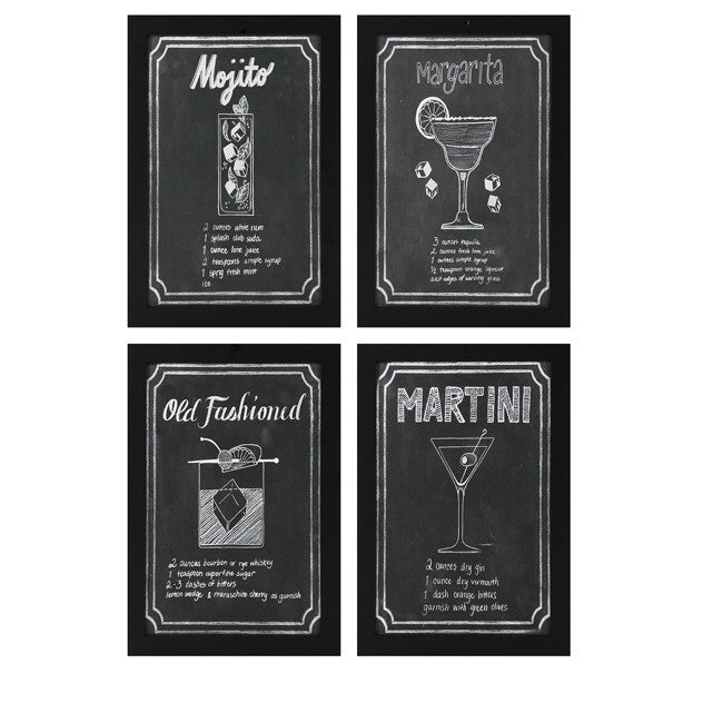 Cocktail Wall Art Set of 4 - Urbanily Lifestyle Goods