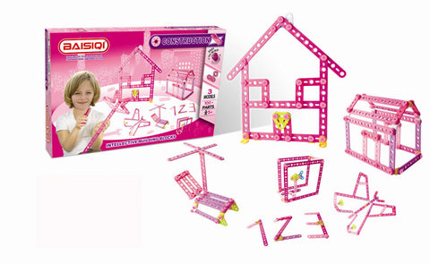 Baisiqi pink construction kit, 100 piece, recommended age 5 years plus