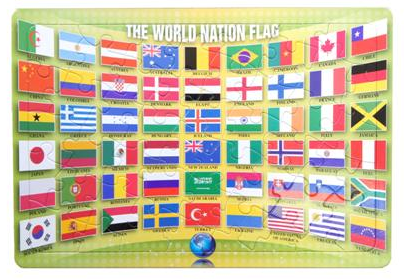 World Flags 48 Piece Jigsaw puzzle