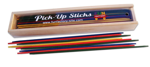 FUN FACTORY Wooden Pickup Sticks.  Classic game of concentration