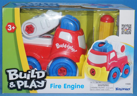 KEENWAY BUILD & PLAY Fire Engine with Screw Driver