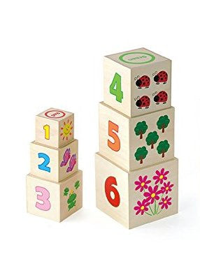 VIGA Wooden Nesting & Stacking Blocks