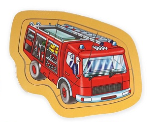 5 Piece Fire Truck Wooden Jigsaw Puzzle