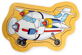 EM HOME - Mini Wooden Jigsaw Puzzle (Plane)