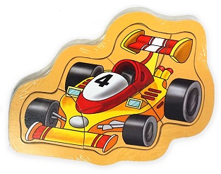EM HOME - Mini Wooden Jigsaw Puzzle (Racing Car)