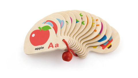 VIGA Mini Alphabet Wooden Flip Book
