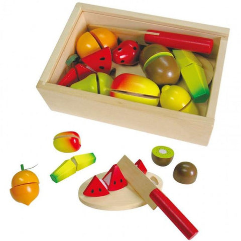 Fun Factory Wooden Fruit with velcro to cut and put back together for ages 3+