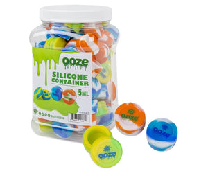 Ooze Silicone Containers Tie Dye - 5ml -  75ct