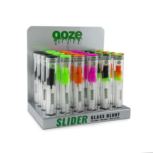 Ooze Slider Glass Blunt Display - 24 count