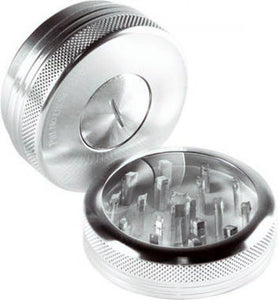 "Sharpstone Push Top Grinder 2.2"" 2 Piece - Silver"