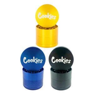 "Santa Cruz Shredder Medium 2.2"" 4 Piece Grinder - Cookies Logo"