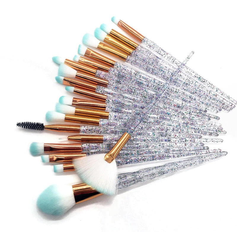 Diamond Makeup Brush Set