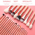 Pink Makeup Brushes Set