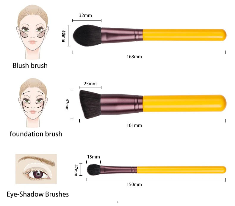 Rozeely Yellow makeup brush
