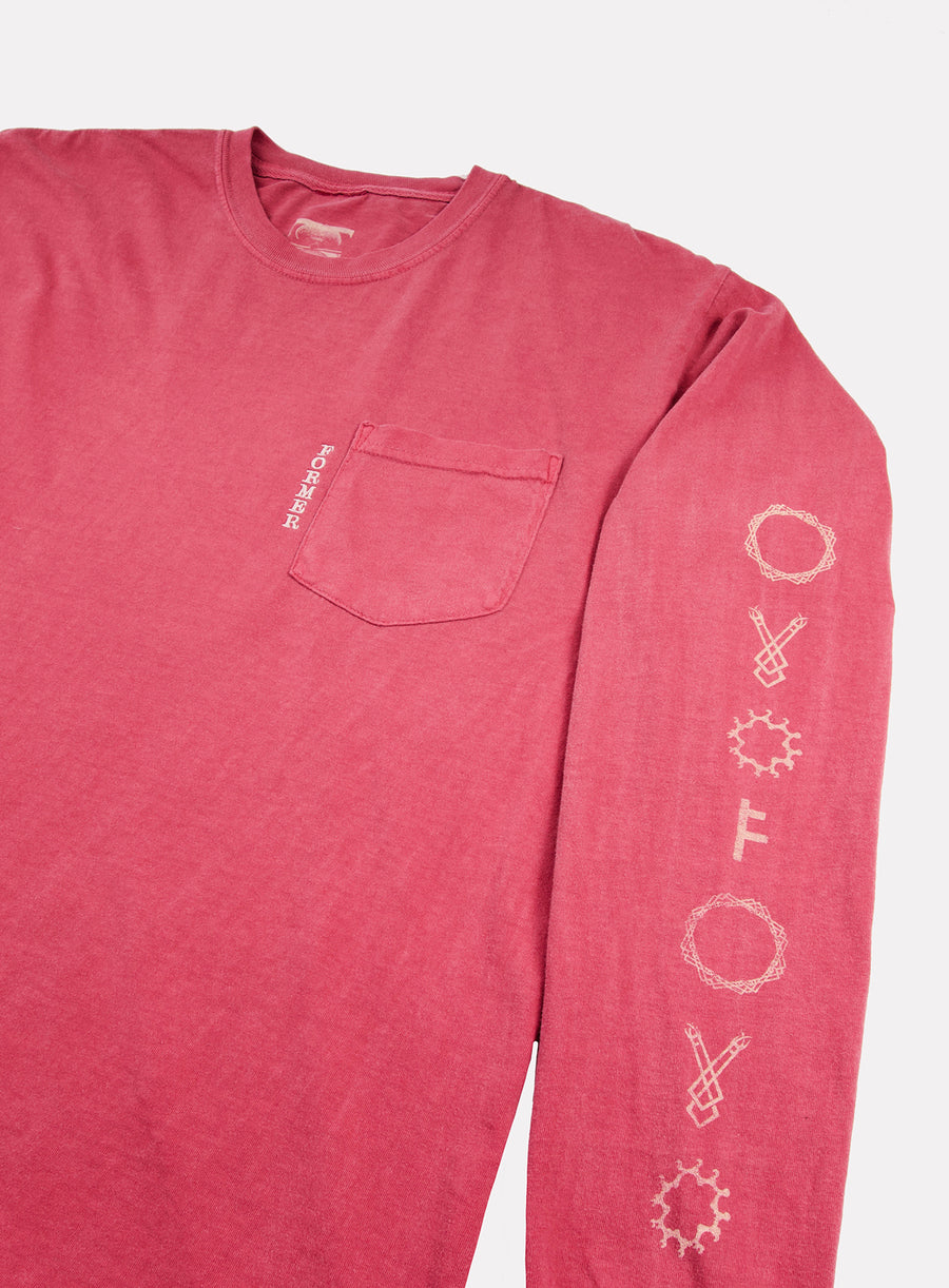 SECT L/S POCKET TEE CRIMSON