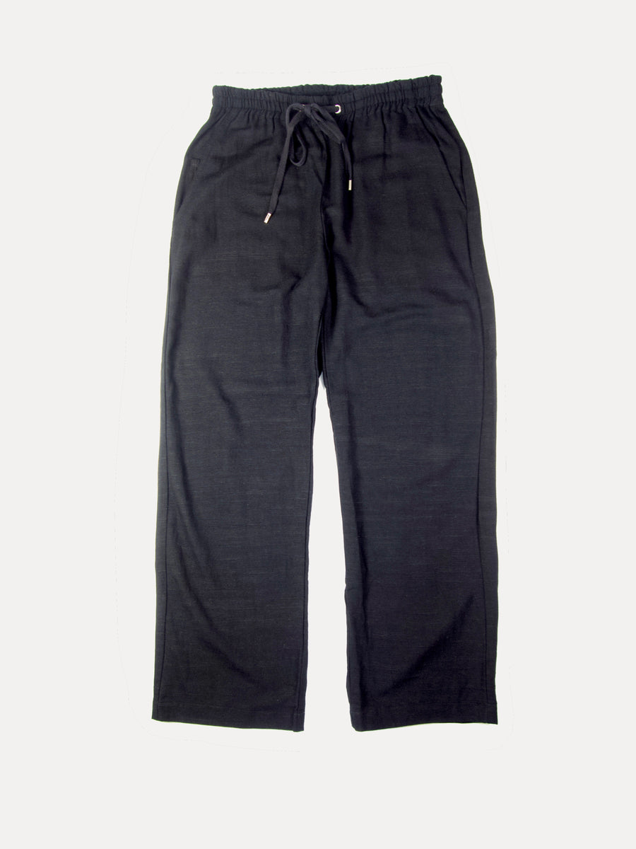 SMOKE WAISTBAND PANT BLACK