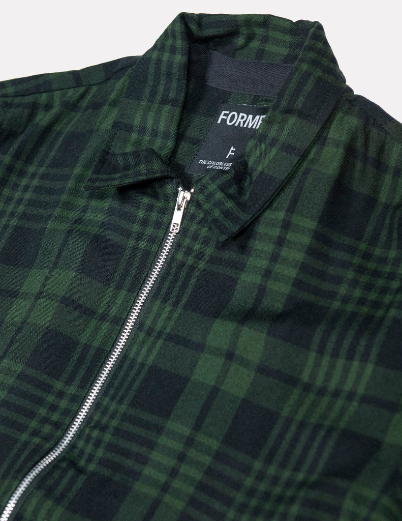 CAGE JACKET GREEN PLAID