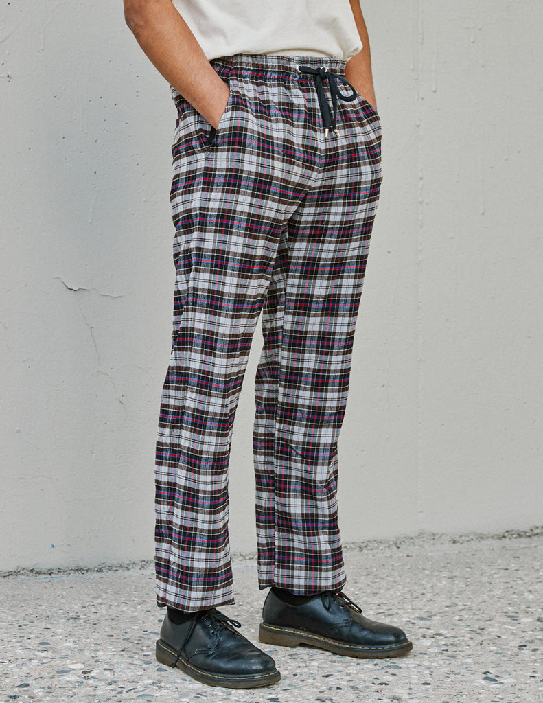 Prayer Pant Smoke Plaid