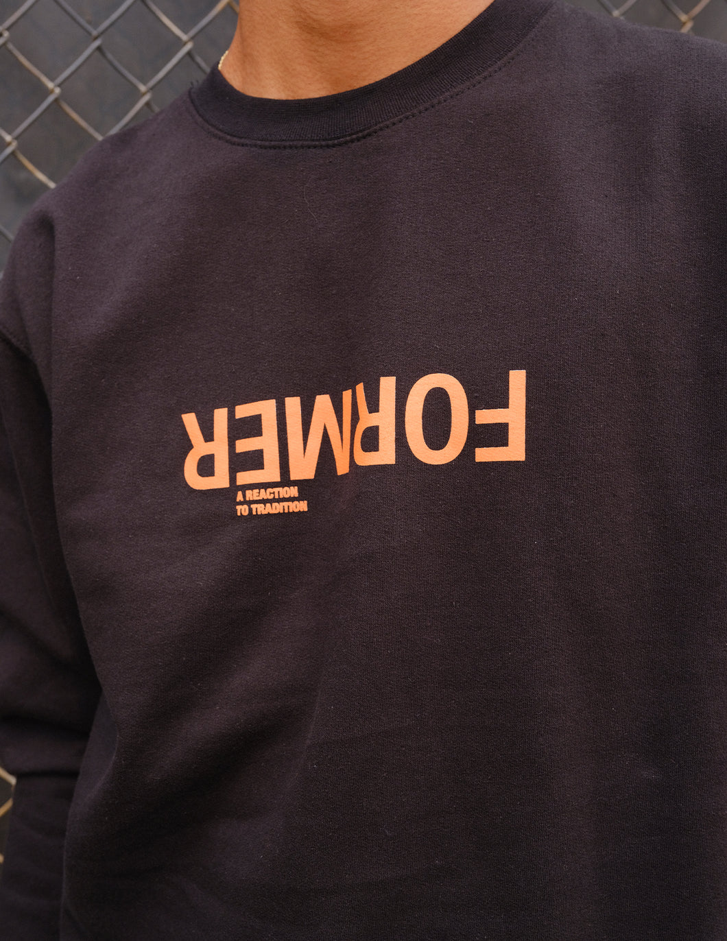 'Unconventional Crewneck' Black