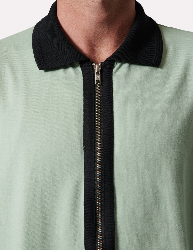Uniform L/S Mint Zip Polo