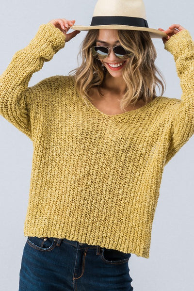 Knit Me Sweater W/  Open Back - More Colors