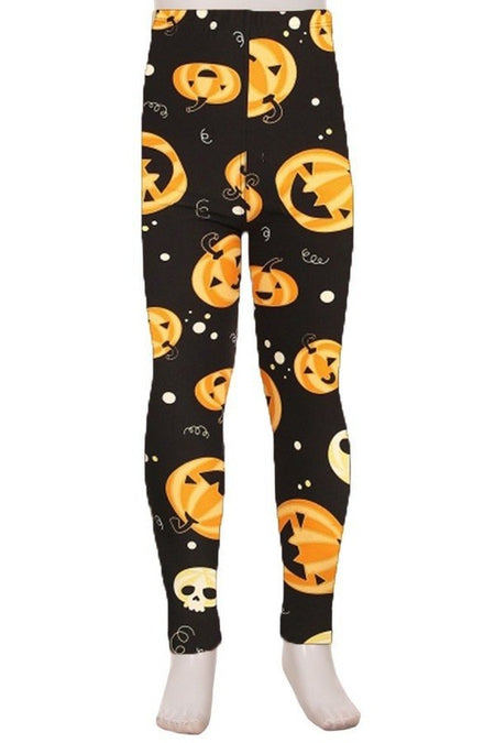 Rose Garden Skull - Kids Brushed Leggings