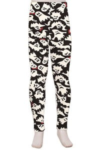Ornament Pattern Print Yummy Brushed Ankle Leggings - Kids