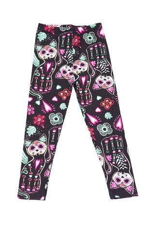 Multi Print Spring Leggings - Curvy