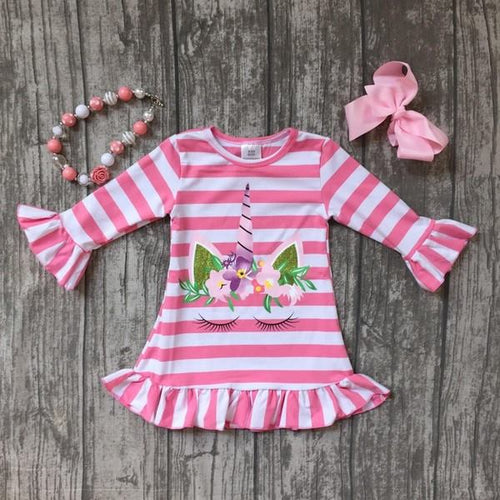 Pink & White Unicorn Dress