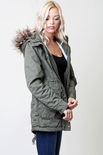 SOLID MILITARY JACKET