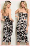 Sexy Zebra BodyCon Dress
