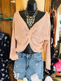 Twisted Back Dolman Sleeve Summer Sweater
