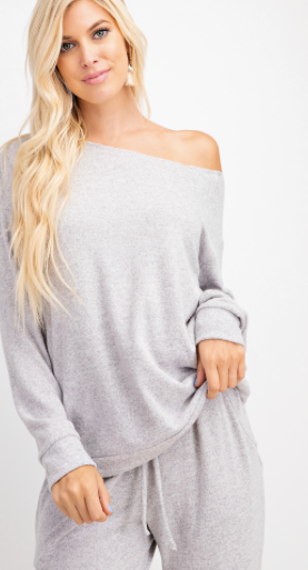 Dreamy Brushed Boat Neck ( top only )